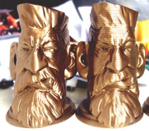 bronze pla filament 3d printed statue