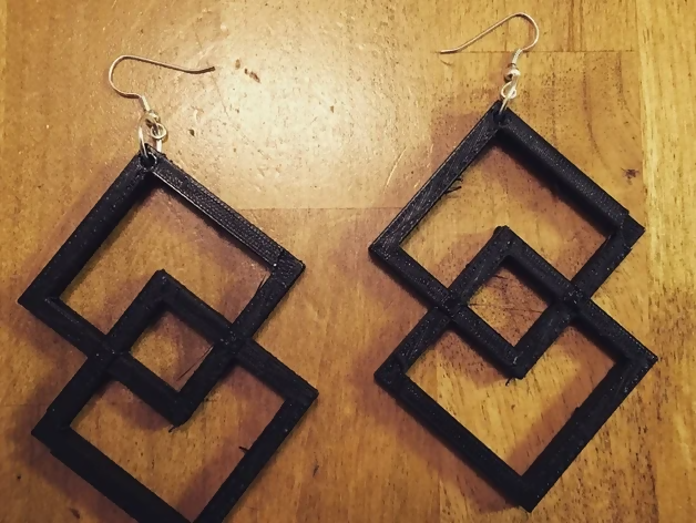 Two Square Earrings - Thingiverse jsimons444