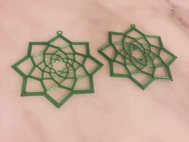 Geometric Flower Earring - Thingiverse Midwesterner