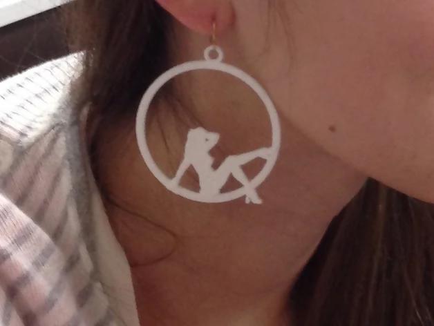 Girl in Circle Earring - Thingiverse bojovic