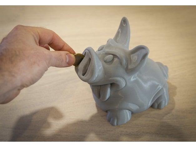 3D Printed Piggy Bank