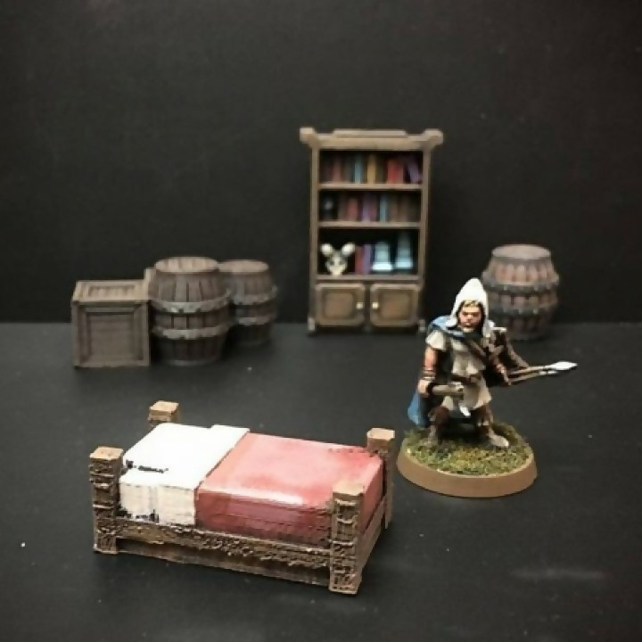 Delving Decor: Inn Bed (28mm/Heroic scale) image