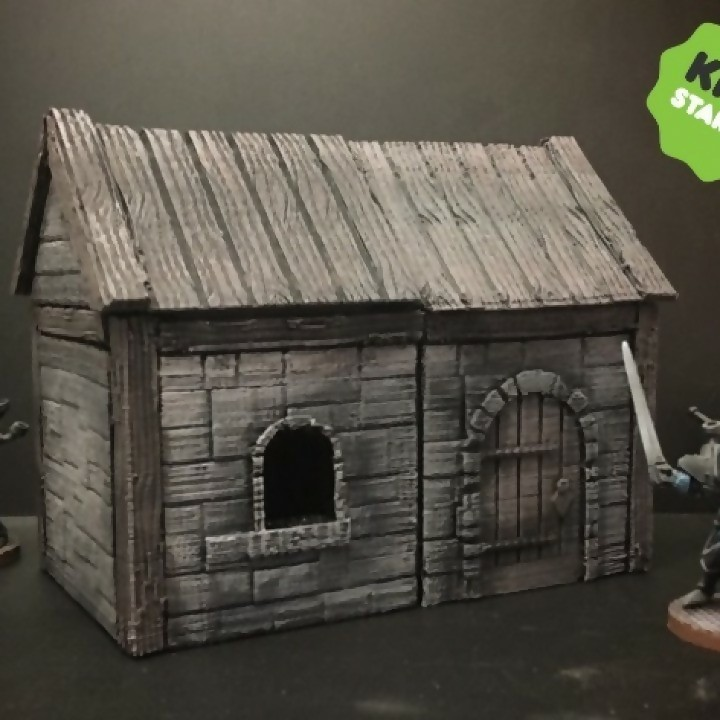 Z.O.D. Medieval House Kit (28mm/Heroic scale) image