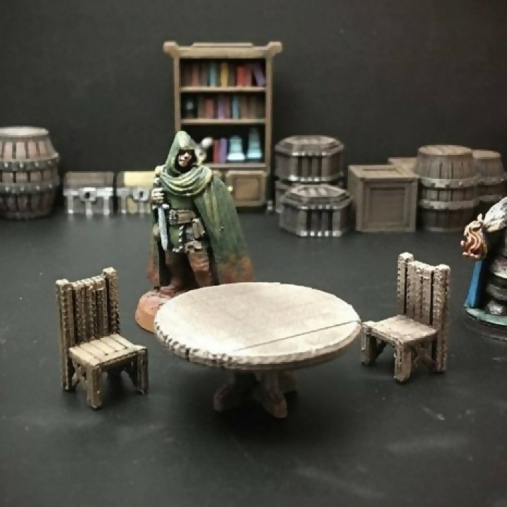Delving Decor: Tavern Table (28mm/Heroic scale) image