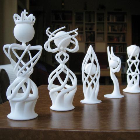 3d printed chess set