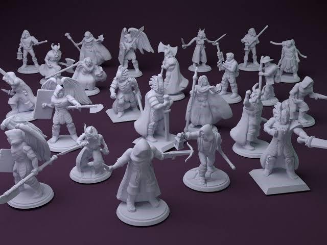 3d printed gamin mini figures