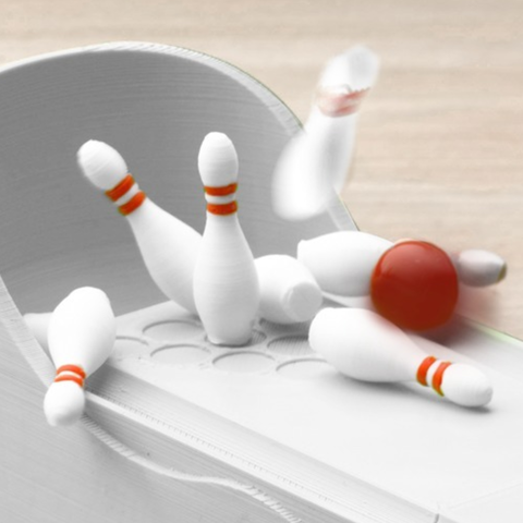 3d printed mini bowling game