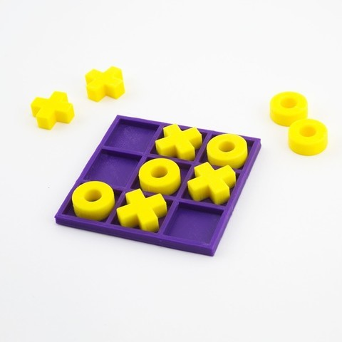 3d printed tic tac toe game