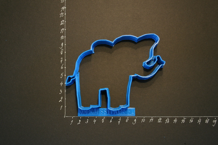 An Elephant Cookiecutter from our Foodsafe collection