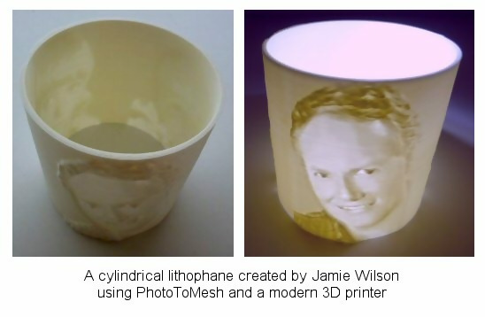 cylindrical lithophane by Jamie Wilson